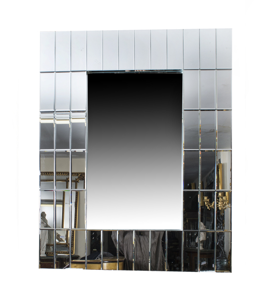 Super Chic Large Rectangular Art Deco Mirror