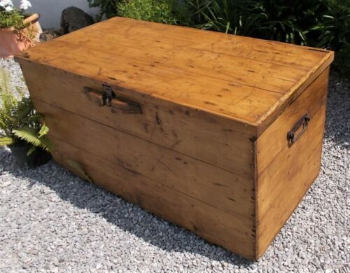 Coffee Table Toy Chest.Vintage Chest Wooden Old Antique Trunk Coffee Table Blanket Toy Box Storage
