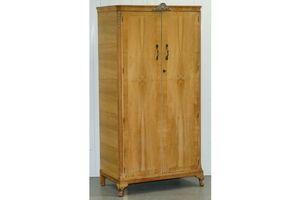 Thumb vintage circa 1920 s walnut wardrobe with minty internal cupboard shelves 0