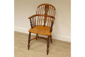 Thumb fine country georgian antique yew windsor chair 0