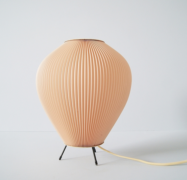 Co Lamp With Pink Pleated Shade 50 S Lighting