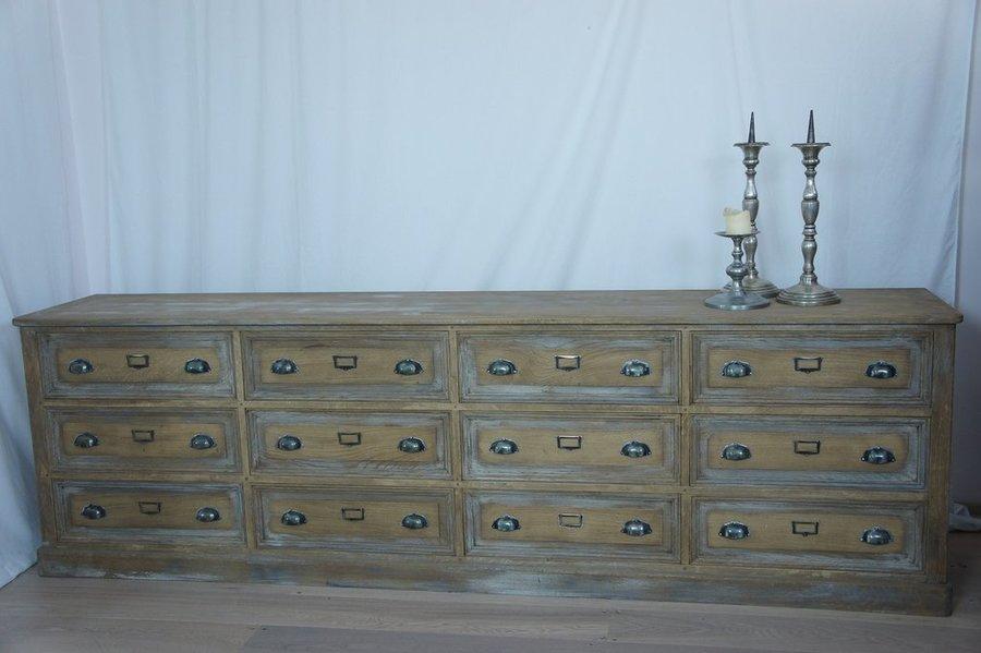Vintage Oak Sideboard Drawers