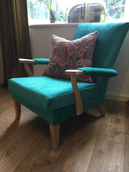 Vintage Parker Knoll Handcrafted Reupholstered Armchair