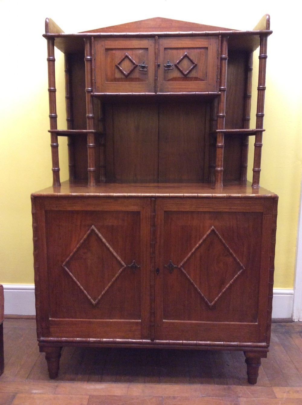 19th C Teak Bombay Furniture Company Side Cabinet Vinterior