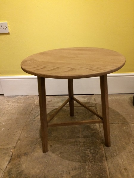 20th C Small Elm Cricket Table