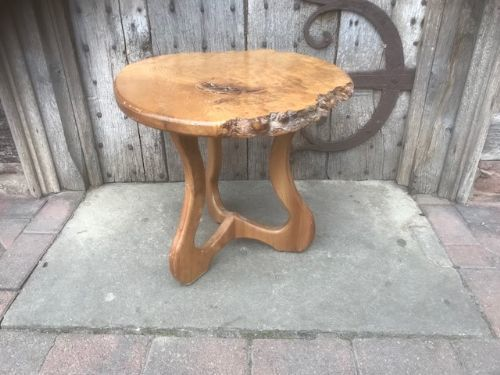 20th C Burr Elm Small Table
