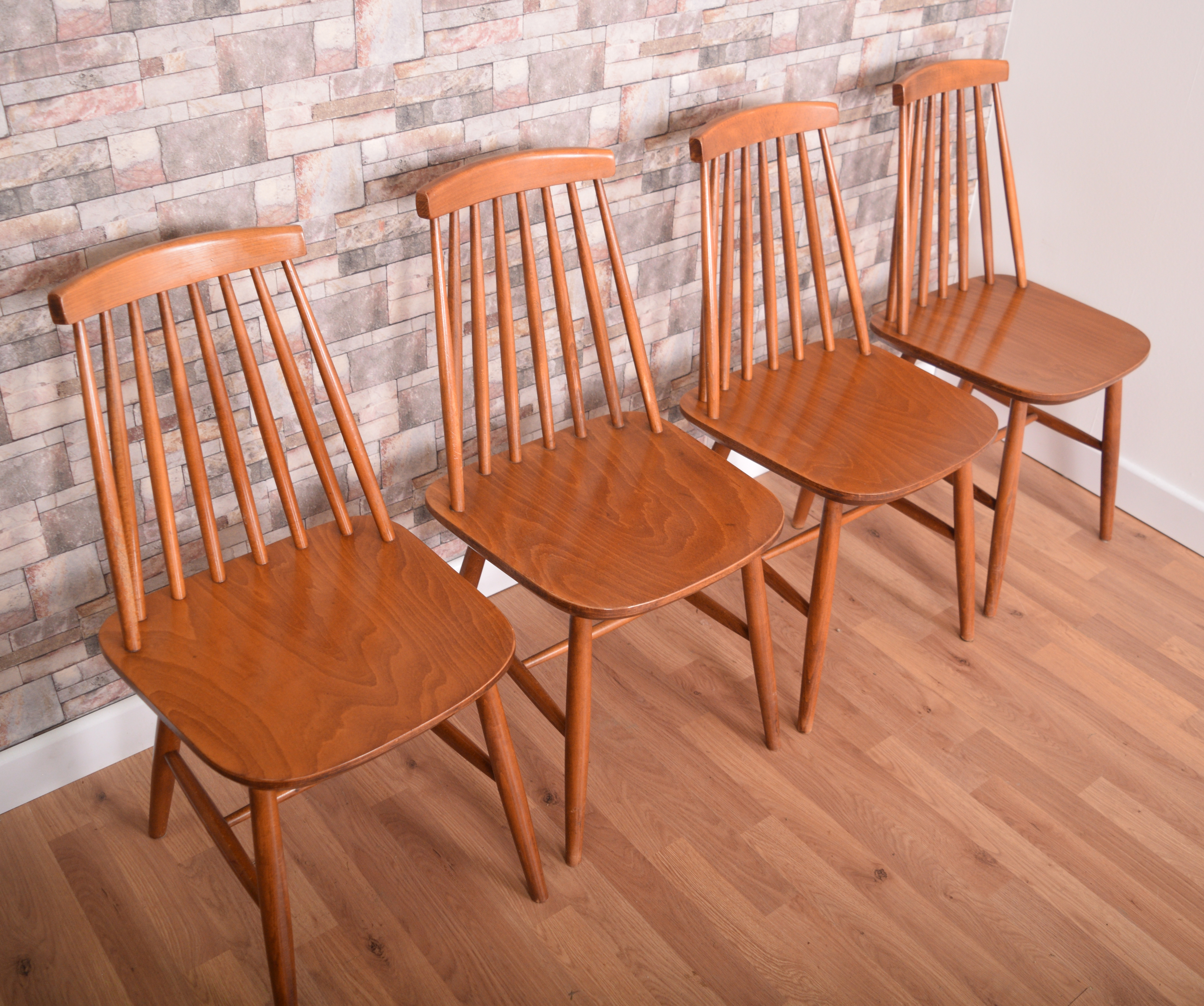 Super 4 Ercol Style Priory Retro Stick Back Dining Chairs Alphanode Cool Chair Designs And Ideas Alphanodeonline