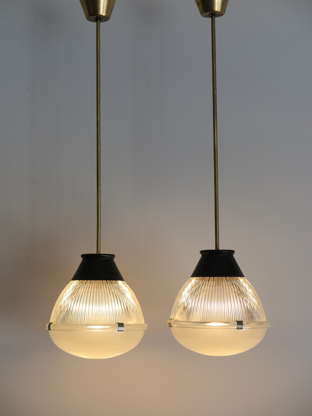 O Agnoli For Oluce Italian Gl Pendant Lamps 1958