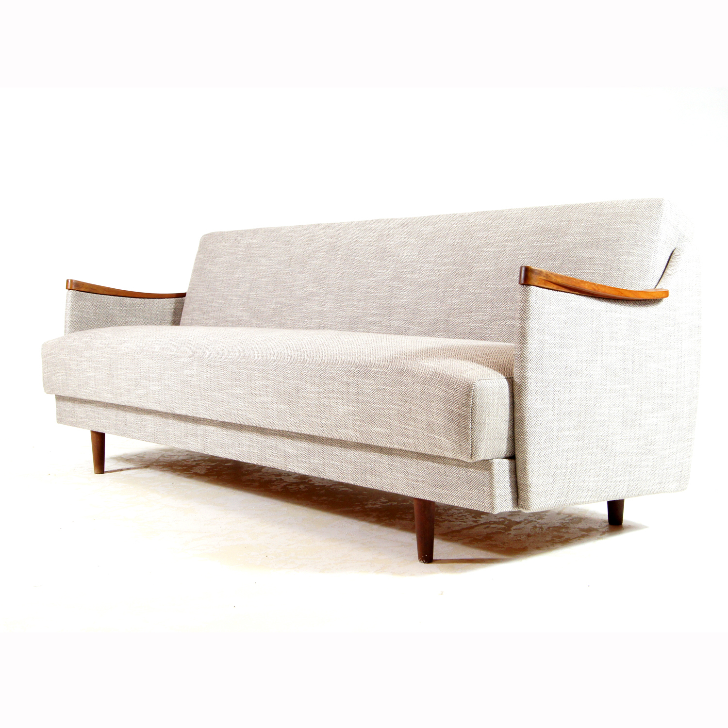Magnificent Retro Vintage Danish Teak Daybed Double Sofa Bed Studio Couch 50S 60S 70S Futon Onthecornerstone Fun Painted Chair Ideas Images Onthecornerstoneorg
