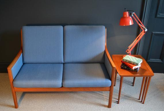 Rare Mid Century Compact 2 Seater Sofa By Ole Wanscher For P. Jeppesen