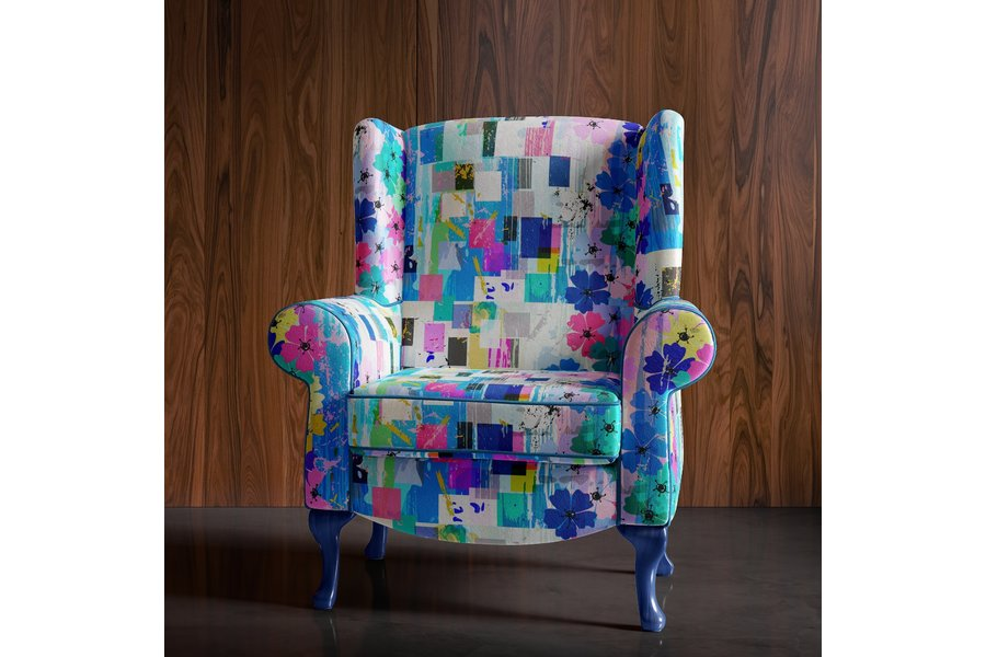 Amazing Funky Floral Accent Chair Gmtry Best Dining Table And Chair Ideas Images Gmtryco
