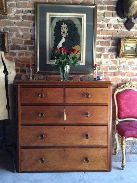 Antique Maple Chest Of Drawers Victorian 19th Century photo 1