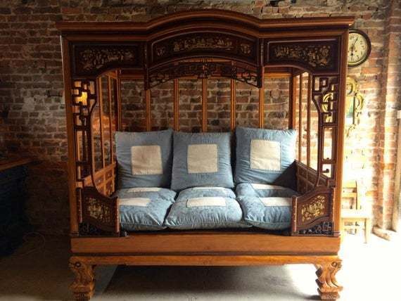 Chinese Opium Bed Day Mid 20th Century