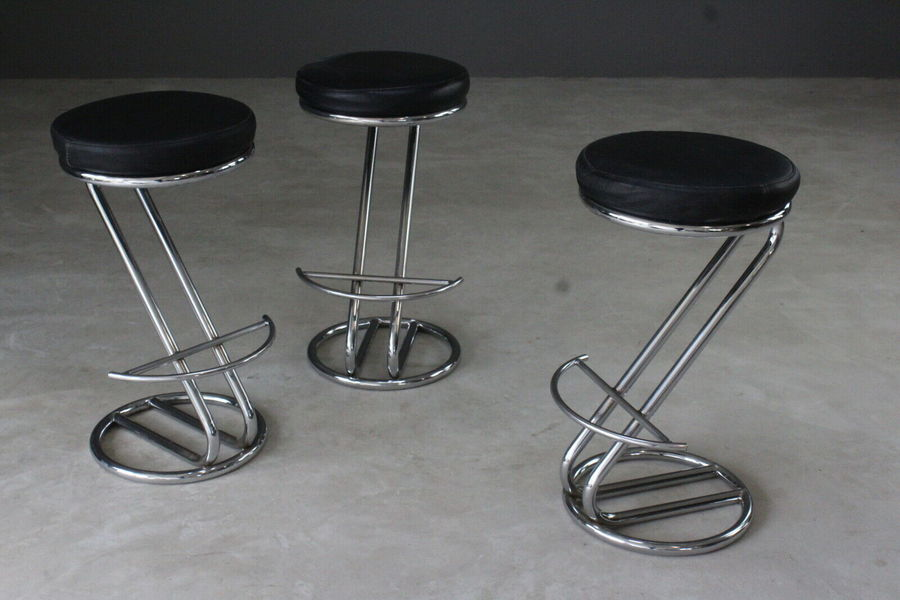 Remarkable 3 Deco Style Chrome Leather Bar Stools Pdpeps Interior Chair Design Pdpepsorg