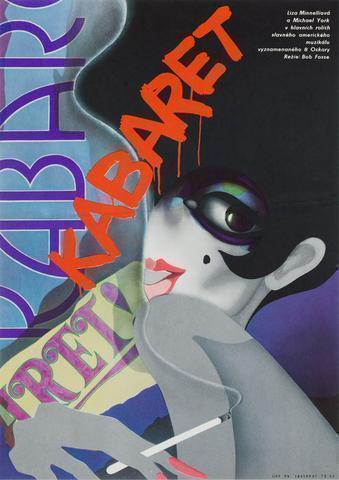 Cabaret  Film / Movie Poster, Original Vintage 1975 Czech