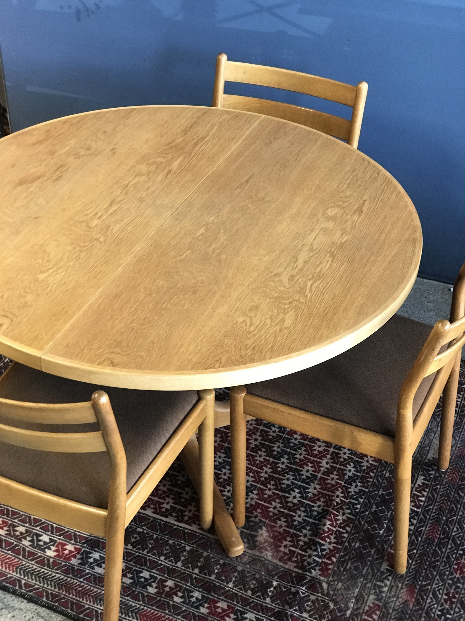 Danish Mid Century Oak Dining Table And Chairs Poul Volther J61 Henning Kjaernulf