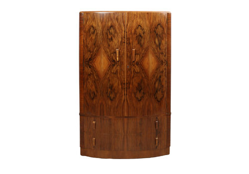Art Deco Walnut Wardrobe C1930