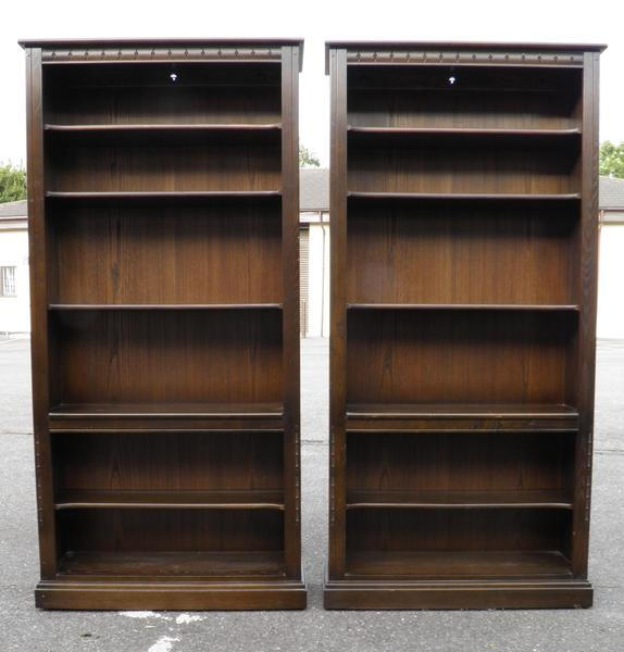 Pair Of Genuine Ercol Tall Bookcases / Bookshelves