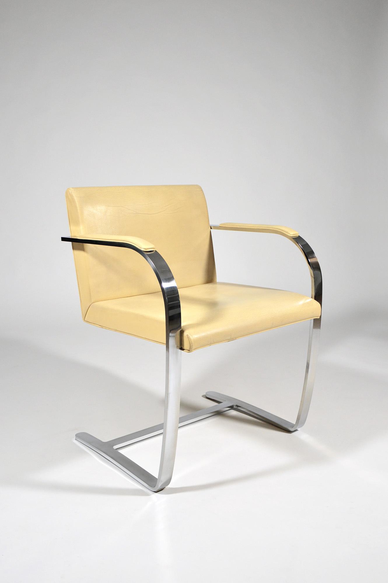 Chaise Brno Mies Van Der Rohe brno flat bar chairludwig mies van der rohe for knoll, 1930, 1/6