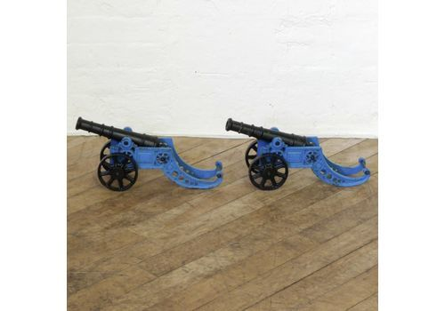 Pair Of Iron Cannons