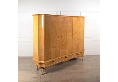 French Sycamore Cupboard C 1950