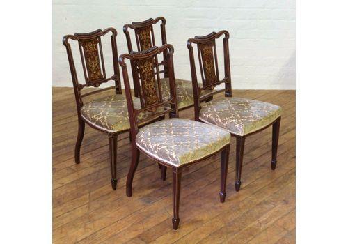 Set Of Four Edwardian Mahogany Chairs