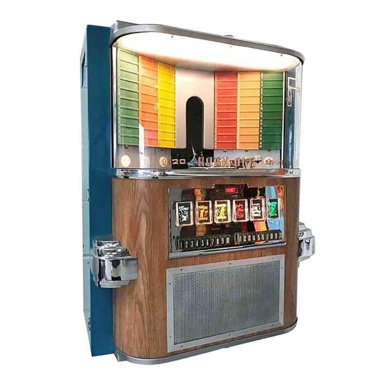 1950s Rock Ola 1464 Wall Mounted Vinyl Jukebox