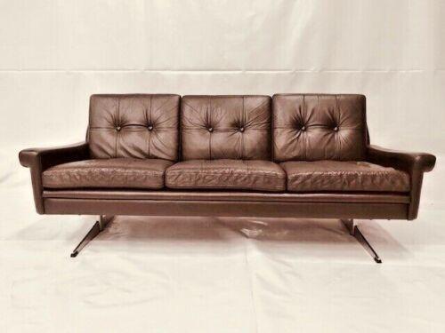 Wondrous Vintage Retro Danish Svend Skipper Coco Leather 3 Person Sofa 1960 S Ncnpc Chair Design For Home Ncnpcorg