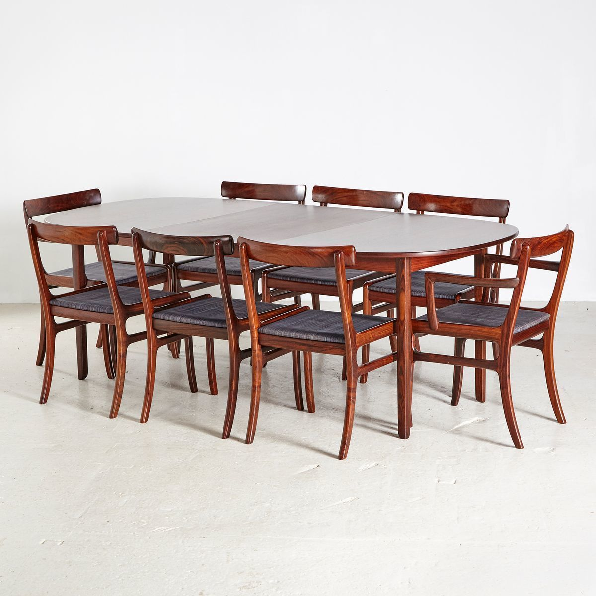Rungstedlund Rosewood Dining Room Set By Ole Wanscher For Poul Jeppesens Møbelfabrik 1960s