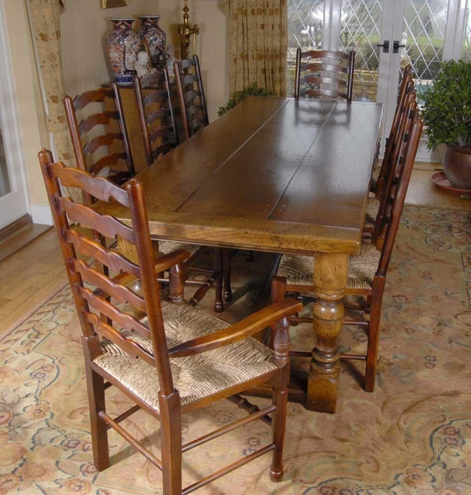 Dining Set Ladderback Kitchen Chairs