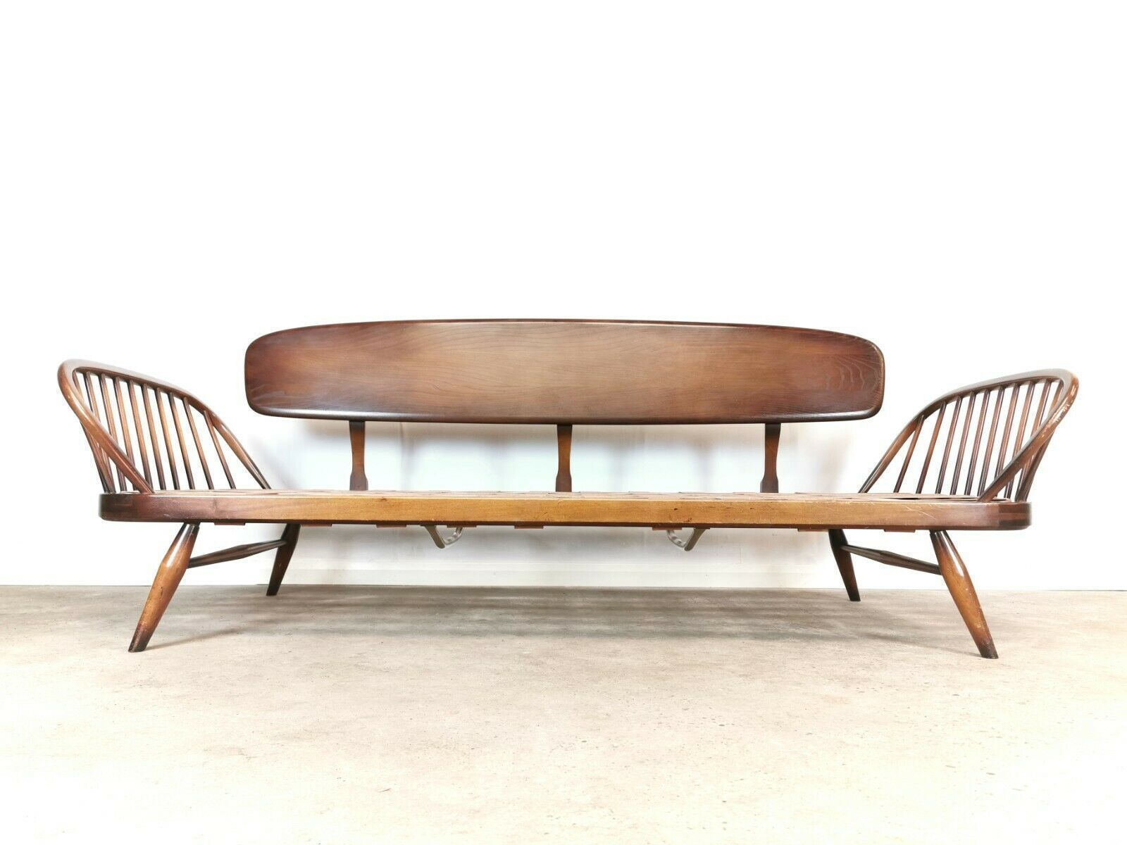 Vintage Ercol Mid Century Studio Day Bed Couch Sofa Retro Cushions