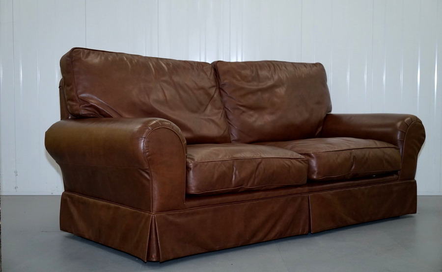 Tremendous Stunning Laura Ashley Kendal Sofa In Brown Leather Download Free Architecture Designs Terstmadebymaigaardcom