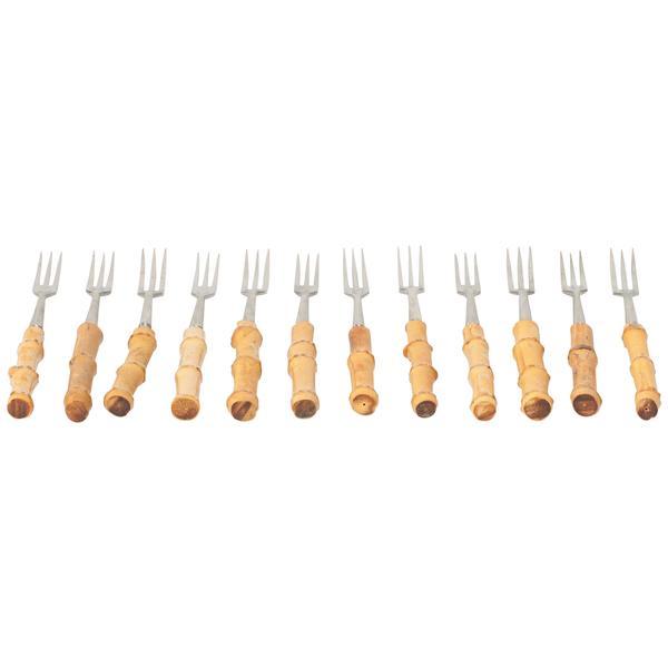 12 Swiss Fondue Forks, 1950