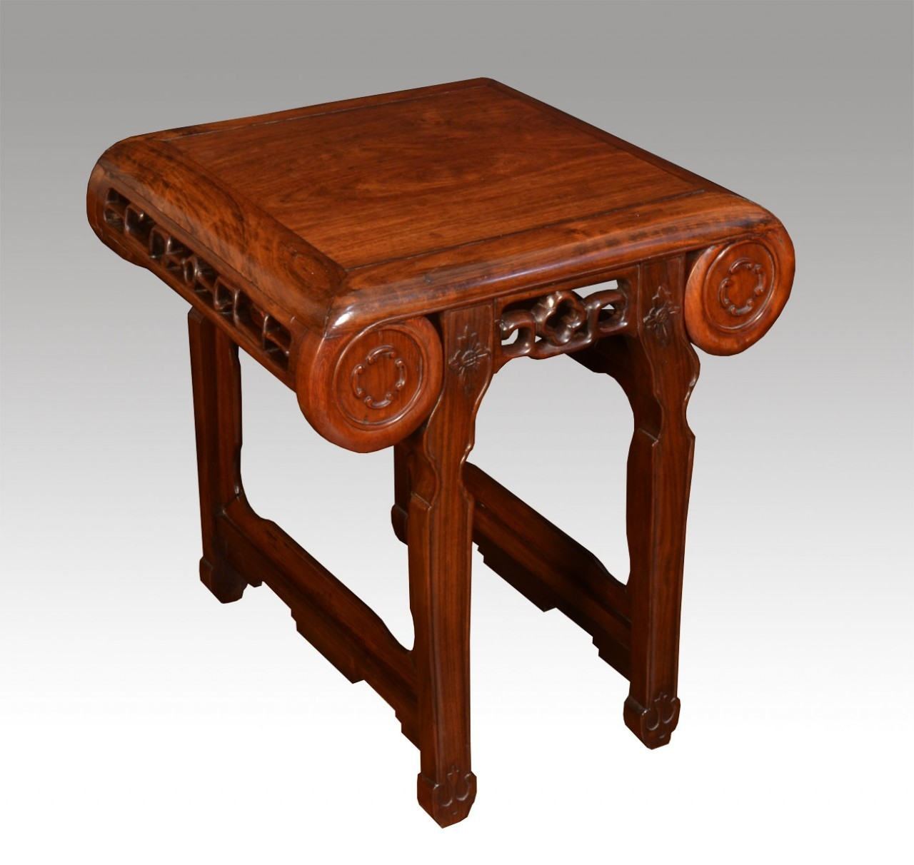 Side Table Chinees.Chinese Hardwood Side Table Stool Circa 1900