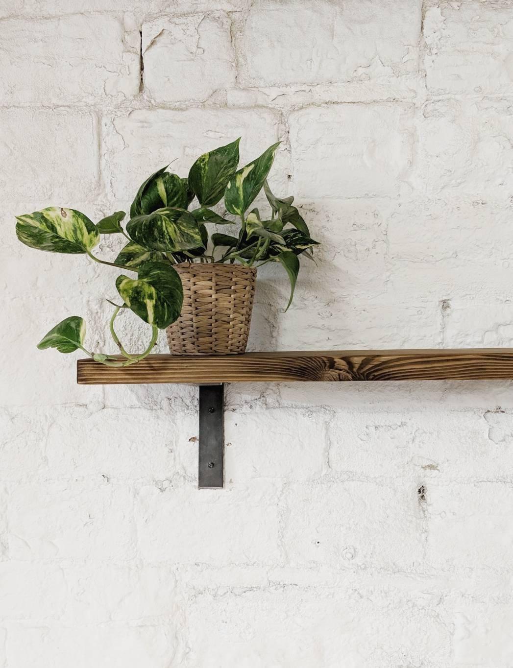 Reclaimed Wood Shelf Lüps In Medium Oak