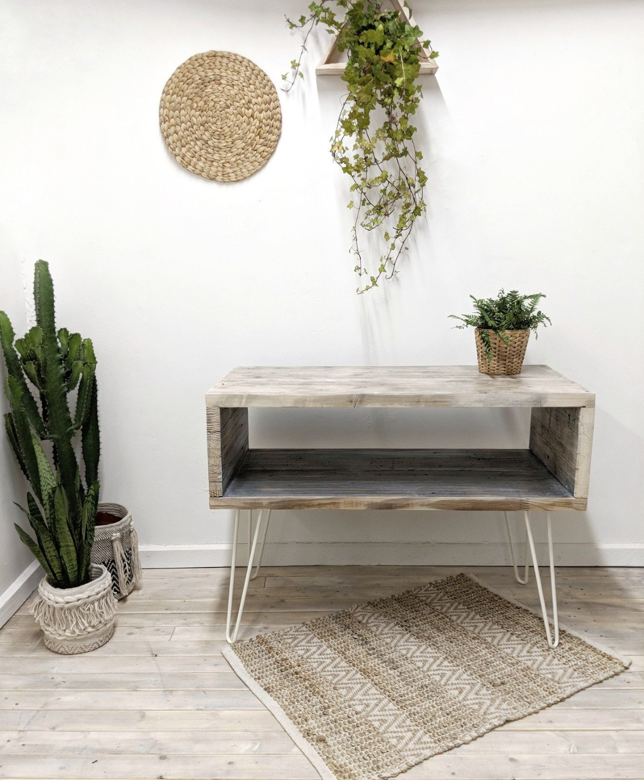 Reclaimed Wood Sideboard Ava In Driftwood Finish Rustic Storage Media Cabinet Table Boho Living Room Characterful Design
