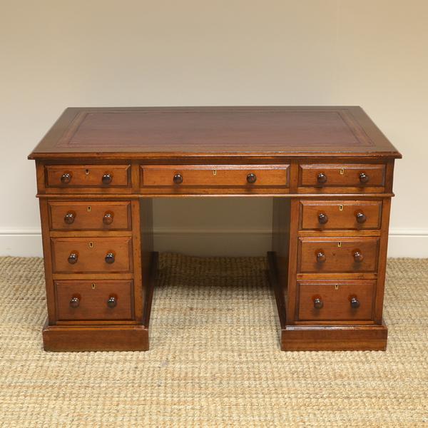 Beautiful Victorian Antique Pedestal Desk
