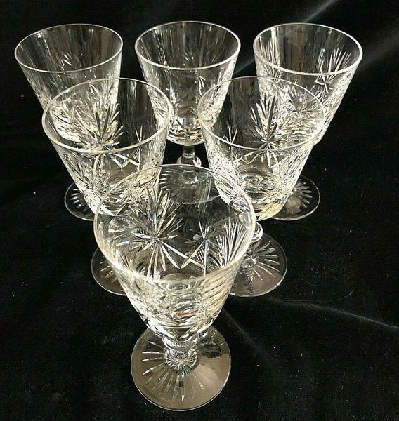 Set Of 6 Edinburgh Crystal Star Of