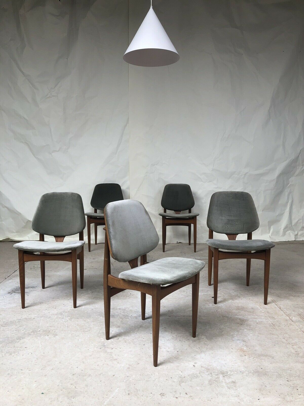 Fantastic Vtg Mid Century Set Of 5 Elliots Of Newbury Eon Dining Chairs Danish Design Mcm Pabps2019 Chair Design Images Pabps2019Com