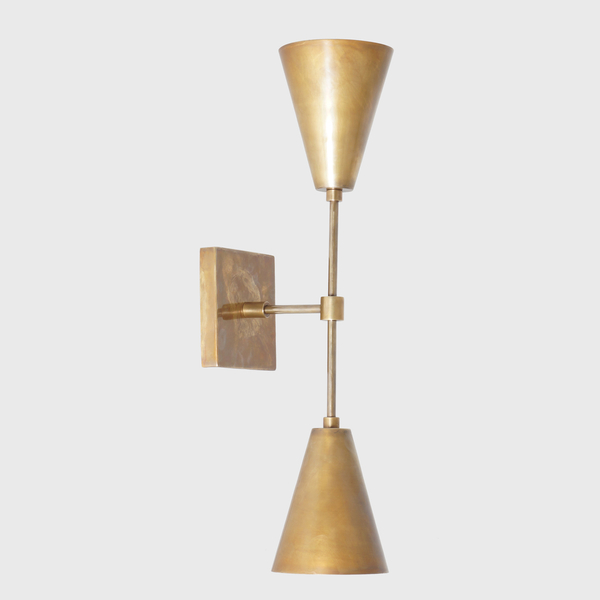 new styles 4efdb 4d956 Mid Century Modern Wall Light , Nadia Sconce , Double Cone Wall Sconce ,  Handmade Brass Wall Lamp , Modernist Wall Sconce Designer
