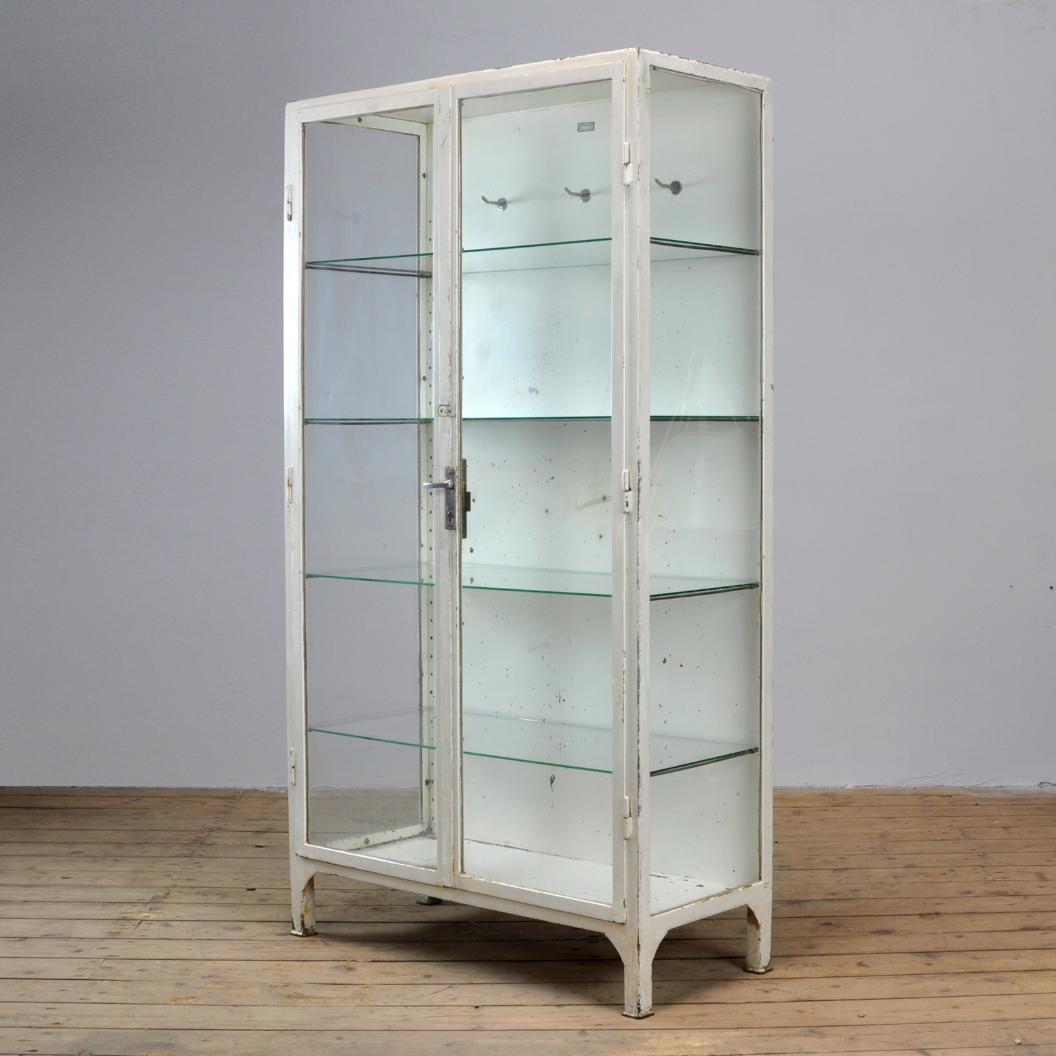Vintage Steel And Glass Medical Cabinet 1966 Vinterior