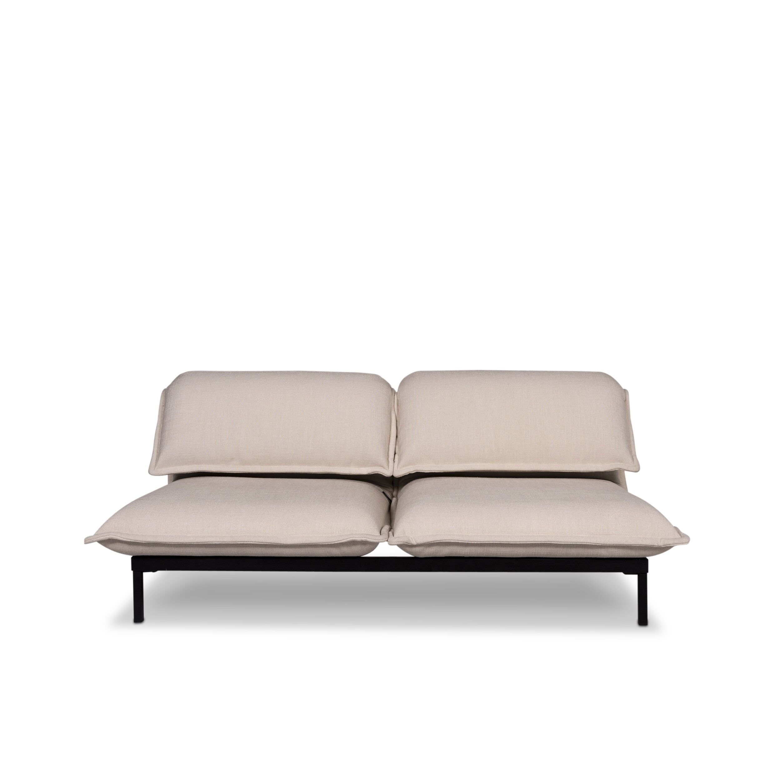 Rolf Benz Nova Designer Fabric Sofa Two Seater Relax Sofa Bed Function Couch 9861