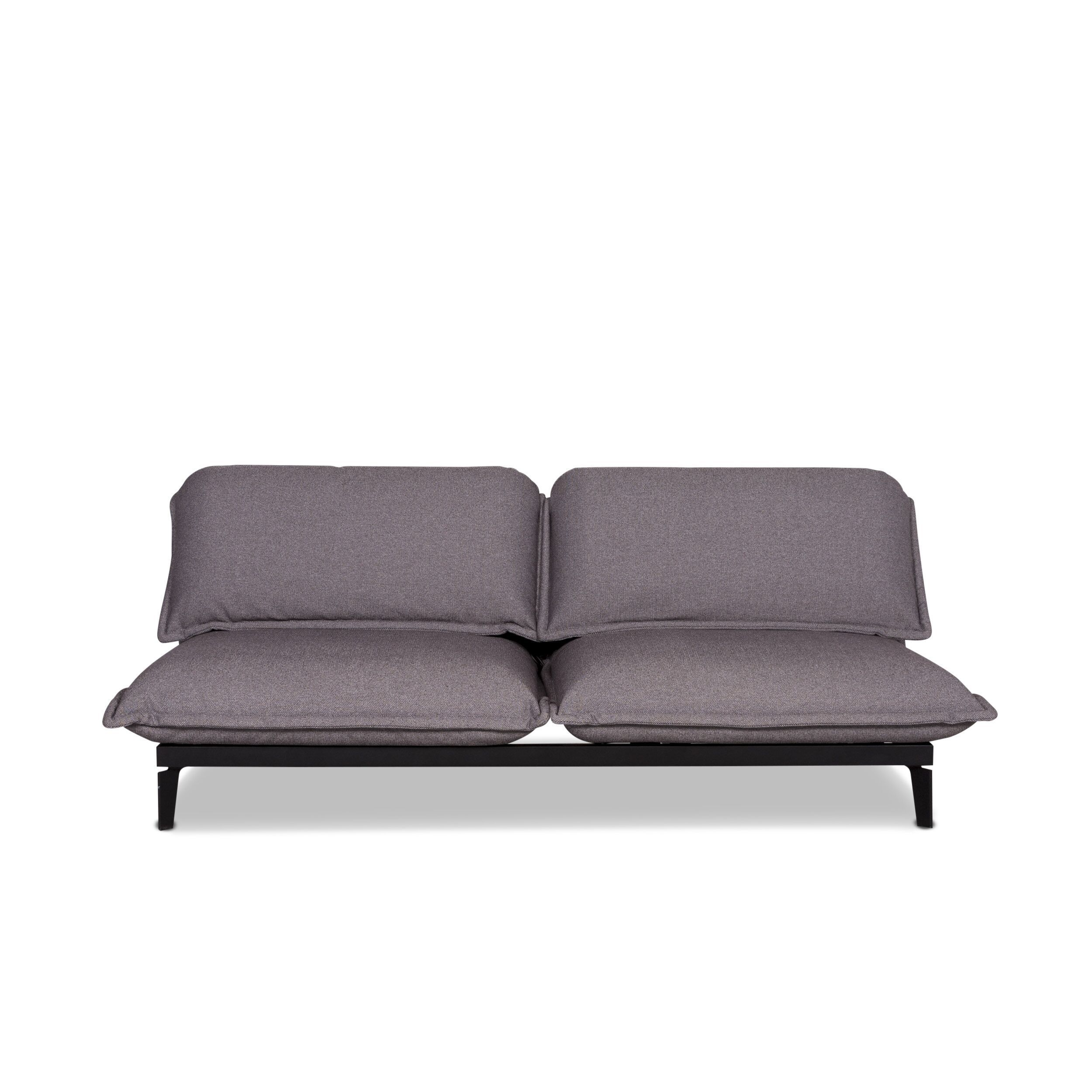 Rolf Benz Nova Designer Fabric Sofa Bed Gray Two Seater Relax Function Couch 9930