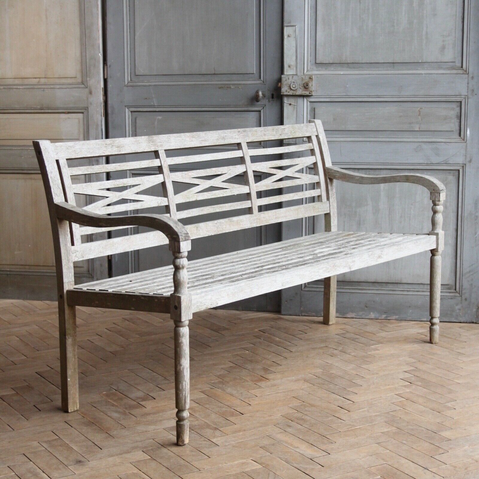 Astounding Vintage English Wooden Garden Bench Caraccident5 Cool Chair Designs And Ideas Caraccident5Info