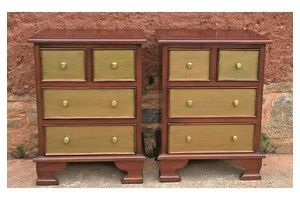 Thumb pair of mahogany bedside chests vintage bedside tables 0