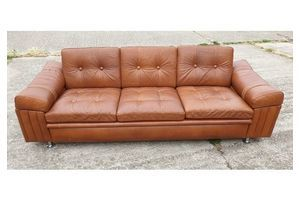 Thumb danish 3 seater leather sofa by skipper furniture factory 0