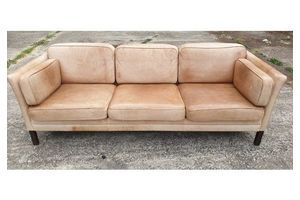 Thumb danish 3 seater leather sofa 1960 s denmark 0