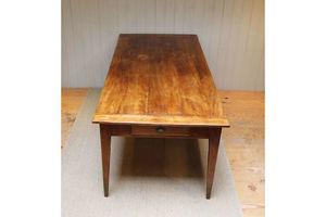 Thumb substantial european plane wood farmhouse table 0