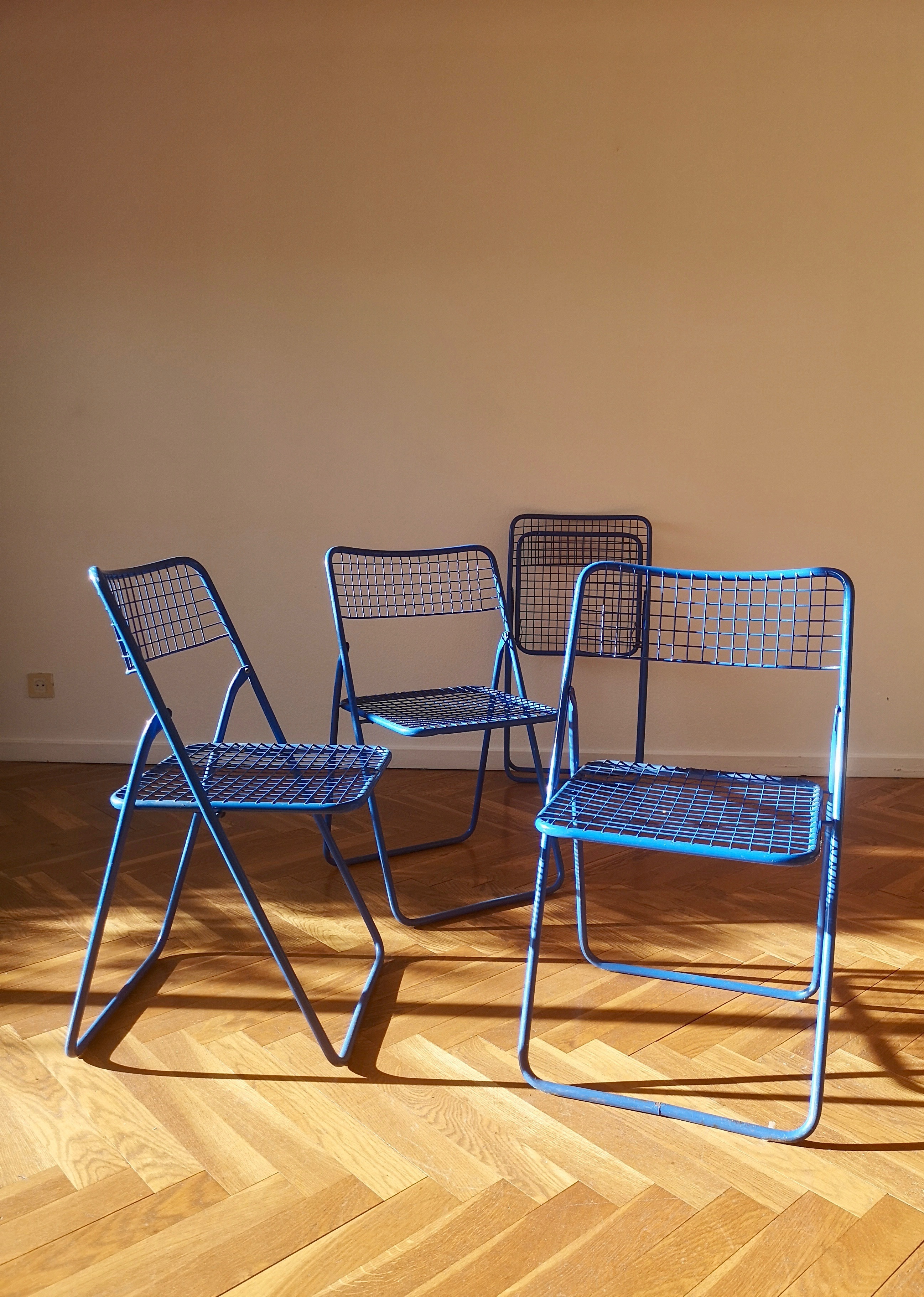 Strange Scandinavian Niels Gammelgaard For Ikea Blue Metal Ted Net Design Classic Folding Chairs Squirreltailoven Fun Painted Chair Ideas Images Squirreltailovenorg