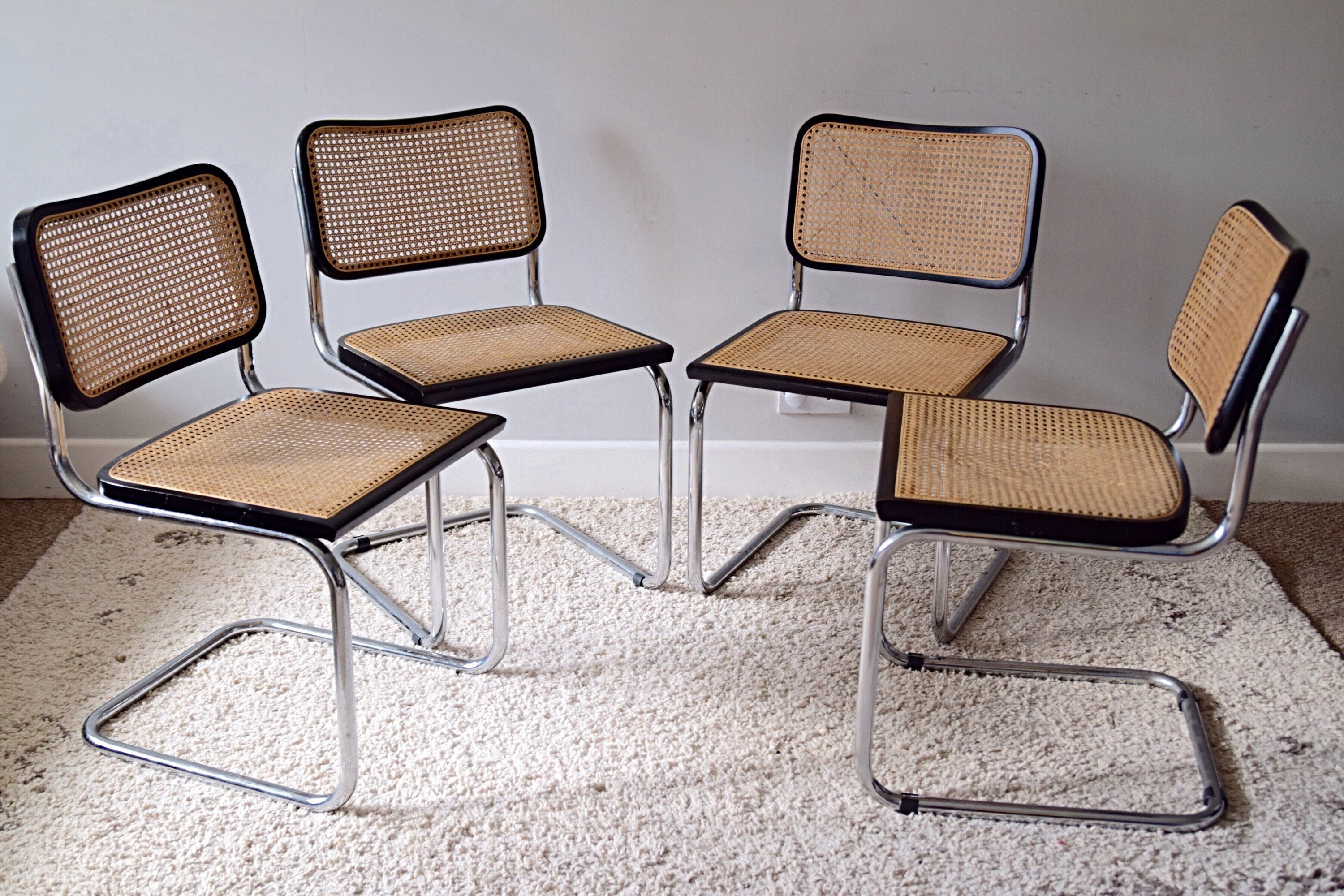 newest collection 13b3e cb561 Four Vintage Marcel Breuer Style Cesca Dining Chairs 1960s/70s Habitat